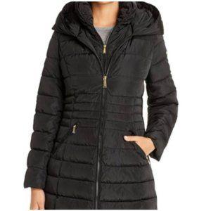 Laundry Shelli Segal Zip Front Puffer coat hooded
